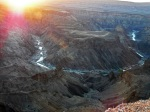 Sunset at Fish River Canyon