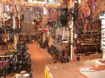 Looking to the left in ebony shop - Near Karatu Tanzania