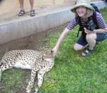 Maria and the cheetah