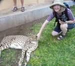 Maria and the cheetah