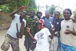 All these guys are Obama People! - Kande Beach on Lake Malawi